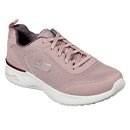 Skechers 12947 rosa - Zapatillas cómoda de cordones para mujer