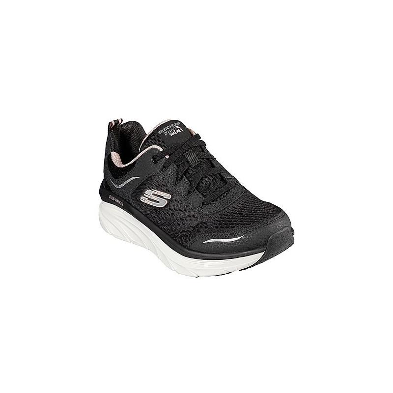 Skechers 14923 negro - Zapatillas de cordones en tela con el piso un poco más grueso