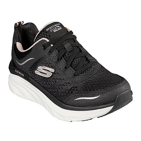 Skechers 149023 negro - Zapatillas de cordones en tela con el piso un poco más grueso