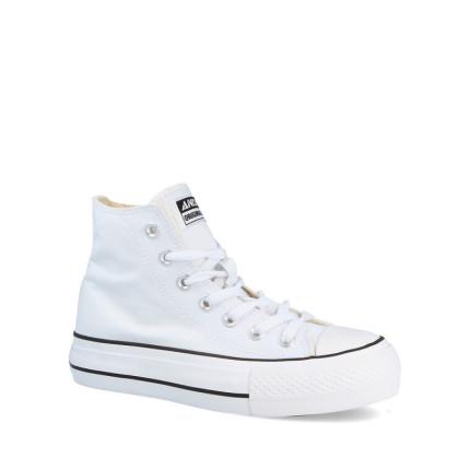 Andy-Z modelo AW0156 en negro, botas con cordones de lona suela blanco y lona blanca