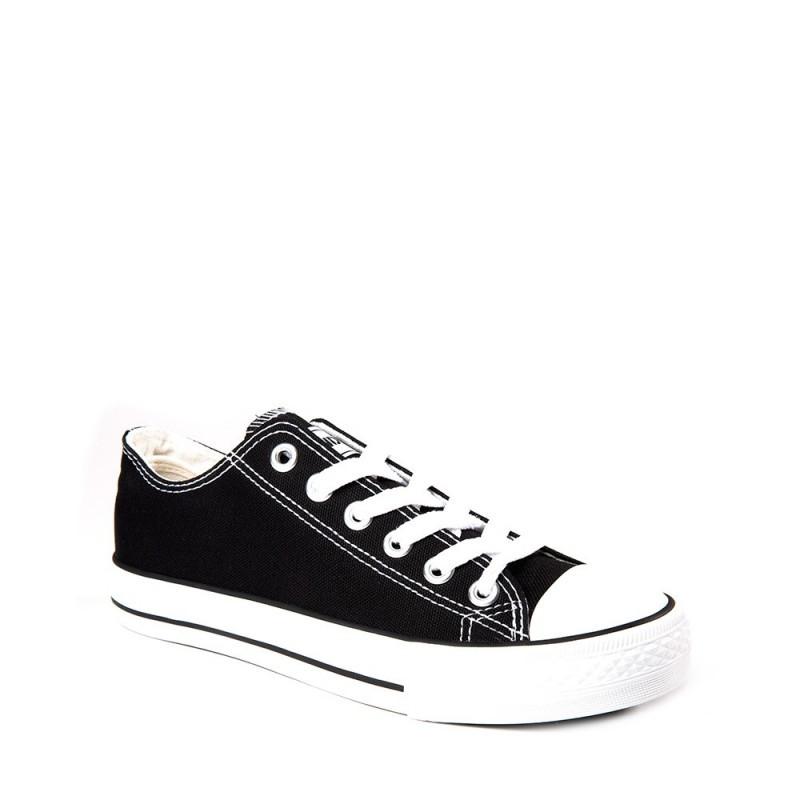 Andy-Z modelo Basket Classic White zapatillas bajas de lona de cordones