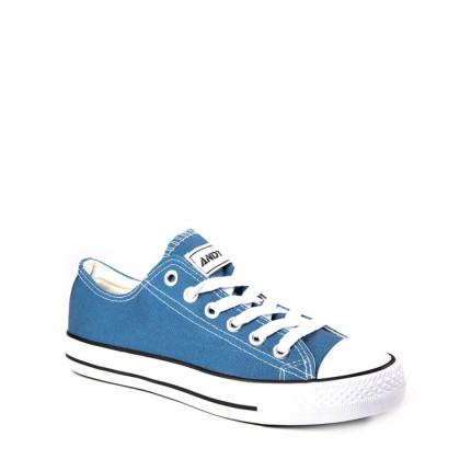 Andy-Z modelo Basket Classic Azulina zapatillas bajas de lona de cordones en color azulina con suela blanca