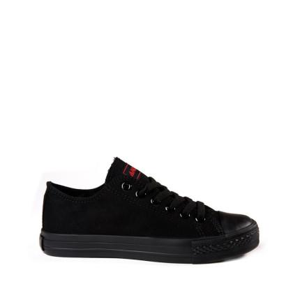 Andy-Z modelo Basket Classic Total Black zapatillas bajas de lona de cordones en color negro con suela negro
