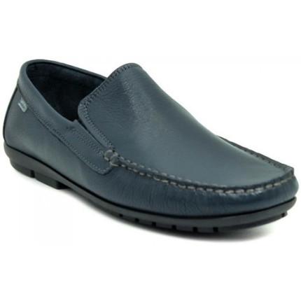 Baerchi 7901 negro - Zapatos superflexibles en piel azul marino. Suela cosida