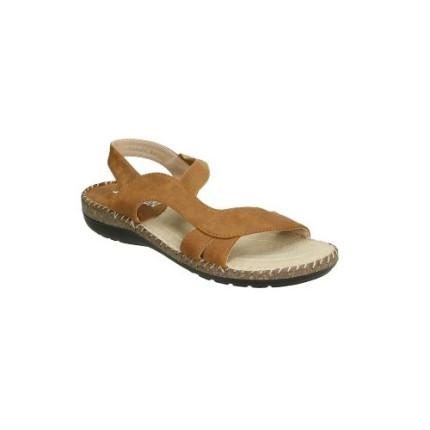 Sandalia anatómica con elastico central. Muy cómoda y fresca color: marrón