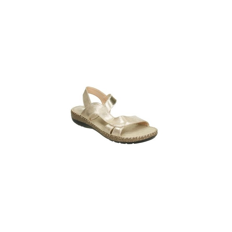 Sandalia anatómica con elastico central. Muy cómoda y fresca color: oro