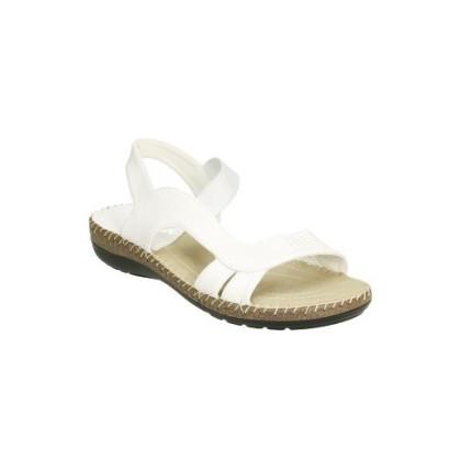 Sandalia anatómica con elastico central. Muy cómoda y fresca color: blanco