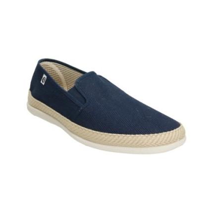 Zapatillas de lona en forma de espiga para hombre en azul marino