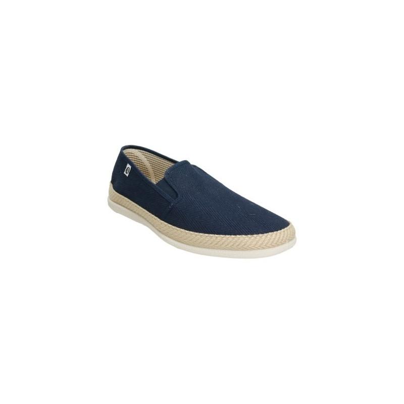 Zapatillas de lona en forma de espiga para hombre en azul marno
