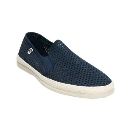 Zapatillas de rejilla para hombre en azul marino