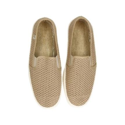 Zapatillas de rejilla para hombre en marrón tostado