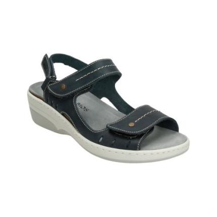 Inter-bios 3020 marino sandalias piel velcros