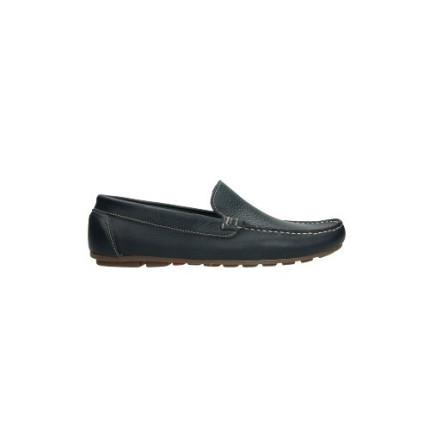 Zapatos para hombre en piel fina color azul marino, fabricados en España