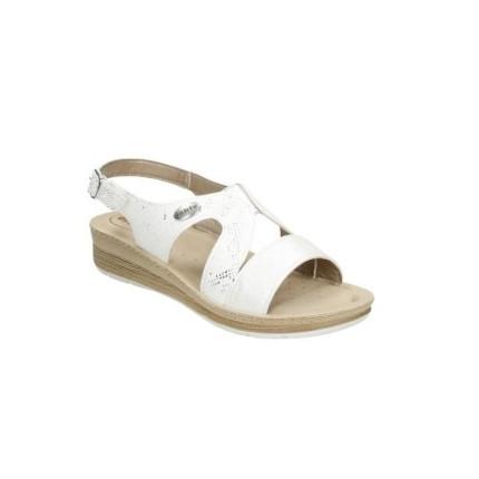 INBLU FC36 platino - sandalia con cuña muy cómoda en blanco