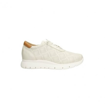 Zapato de piel tipo cordones con elásticco en vez de cordones