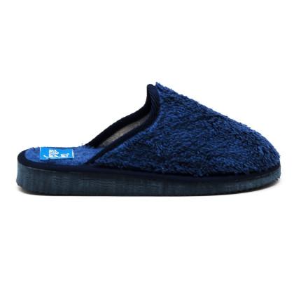 Zapatillas de algodón con la puntera cerrada de color azul marino