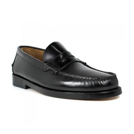 Zapatos Castellanos de suela de piel Edwards 1001 color negro