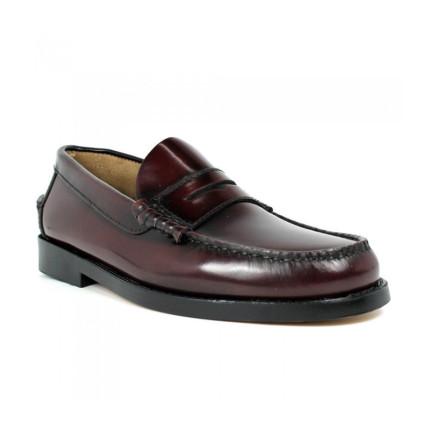 Zapatos Castellanos de suela de piel Edwards 1001 color burdeos