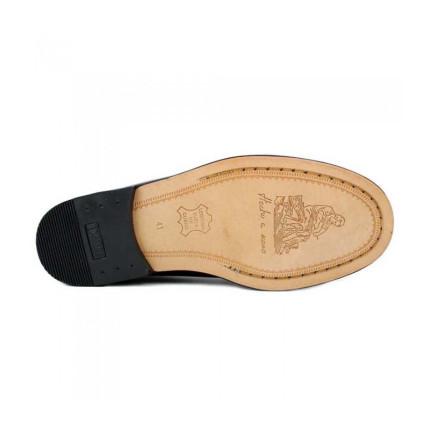 Zapatos Castellanos con borlas de suela de piel Edwards 1007 color negro