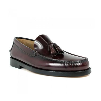 Zapatos Castellanos con borlas de suela de piel Edwards 1007 color burdeos