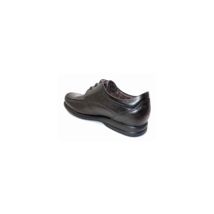 Fluchos 6276 negro - Zapatos de cordones de hombre con suela antideslizante, muy anchos, plantilla extraíble