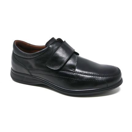 Baerchi 1968 - Zapatos con cierre de velcro en piel de ancho especial y plantillas extraíbles