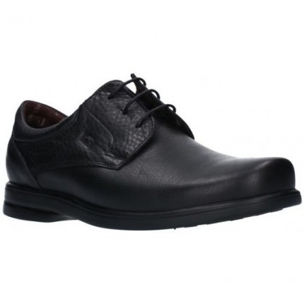 Fluchos 6277 negro - Zapatos de cordones lisos , Fluchos profesionales con plantilla extraíble y suela antideslizante
