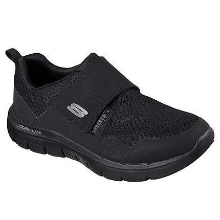 Skechers 52183 negro - Zapatillas de hombre para calle con cierre de velcro