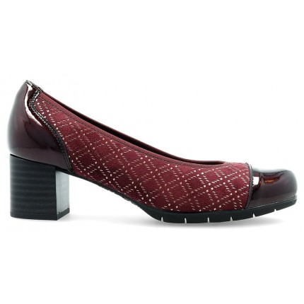 Pitillos 6340 burdeos - Zapatos de salon con tacón y puntera de charol