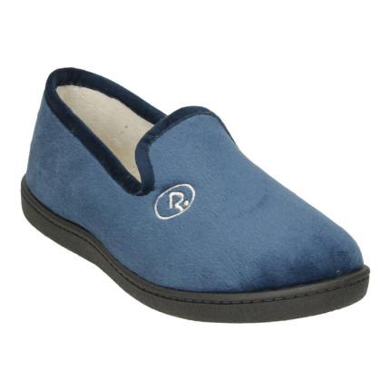 Zapatillas de casa para mujer cerradas en suapel con plantillas pluma-flex ultraacolchadas en color azul marino