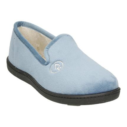 Zapatillas de casa para mujer cerradas en suapel con plantillas pluma-flex ultraacolchadas en color azul jeans