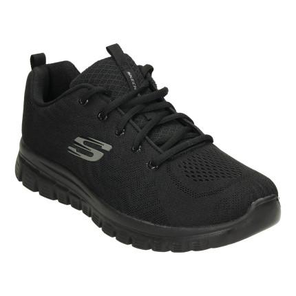 Skechers 12615 negro - Zapatillas de cordones con suela negra
