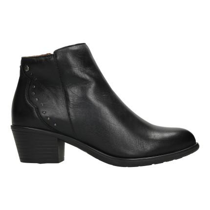GIORDA 35819 negro - Botines de piel con cremallera con tacón de goma de 5 cms.