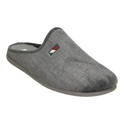 Zapatillas de casa para hombre sin talón en color gris