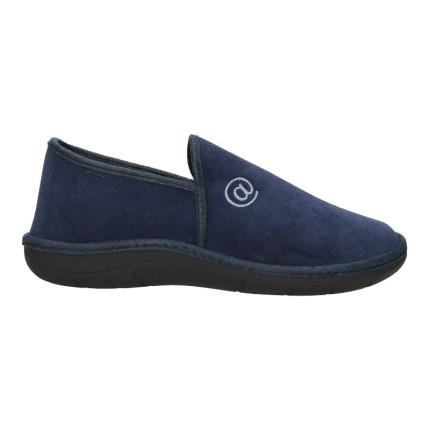 Zapatillas de estar en casa para hombre cerradas en color azul marino bordado de una arroba supercómodas