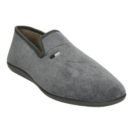 Zapatillas de casa cerradas para hombre con tejido jaspeado en color gris