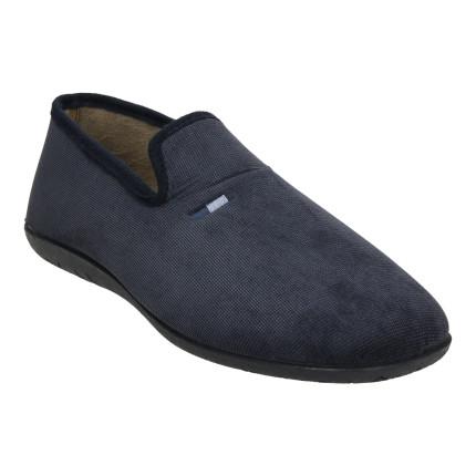Zapatillas de casa cerradas para hombre con tejido jaspeado en azul marino