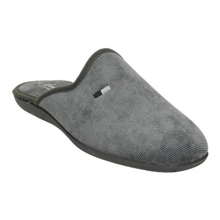 Zapatillas de estar en casa sin talón en gris de invierno para hombre
