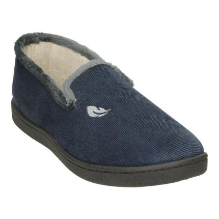 Zapatillas de casa para hombre cerradas con plantillas plumaflex ultracómodas en color azul marino