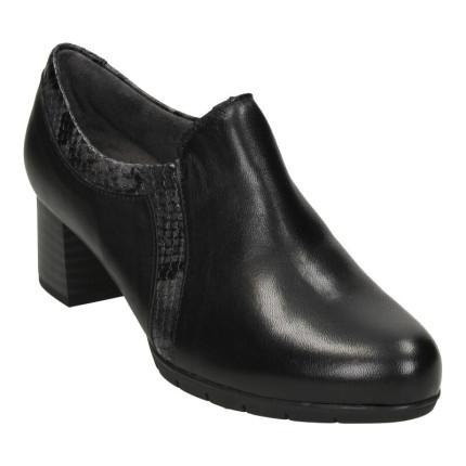 Pitillos 6344 negro - Zapato abotinado negro de piel