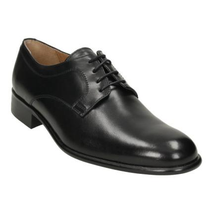 Zapatos de vestir para hombre con cordones, suela de piel y forro de piel, cosido a mano, hecho en España