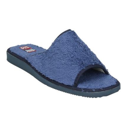 Zapatillas de estar en casa para hombre de verano en toalla gruesa azul marino, modelo básico, hecho en España