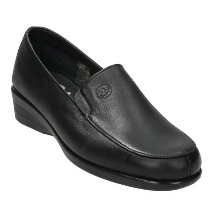 48 horas modelo 601 negro - mocasín de piel, zapatos para el día a día, supercómodos y flexibles