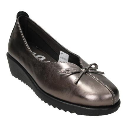 48 horas modelo 511 metalizado - Zapatos de cuña de piel