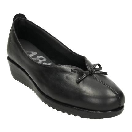 48 horas modelo 511 negro - Zapatos de cuña de piel