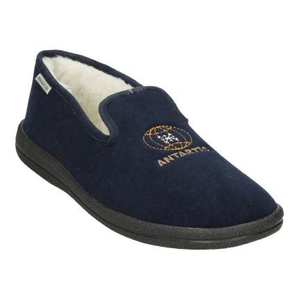 Zapatillas de casa para hombre cerradas de talón en azul marino