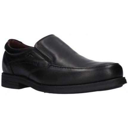 Fluchos 9301 negro - Mocasín de piel, zapatos sin cordones