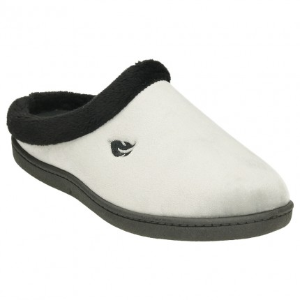 Zapatillas de casa para mujer con plantilla ultraligera pluma flex de color gris