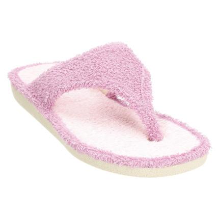 Zapatillas de casa de dedo fabricadas en toalla color: violeta