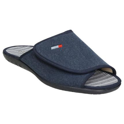 Zapatillas de casa de verano de hombre con cierre de velcro en el empeine